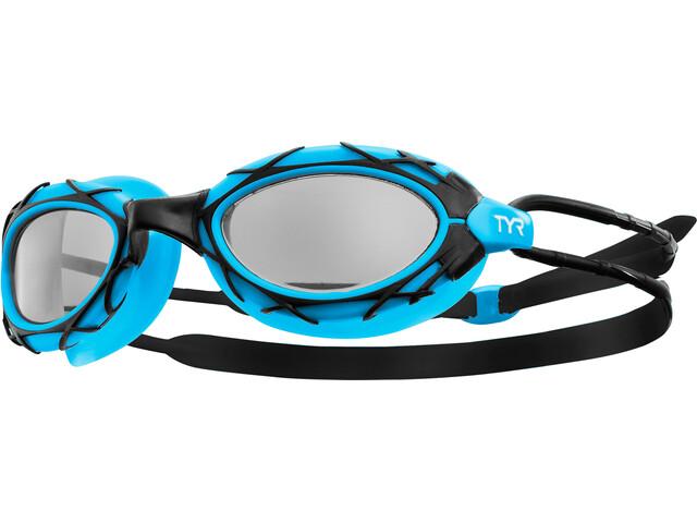 TYR Nest Pro Okulary pływackie niebieski/czarny